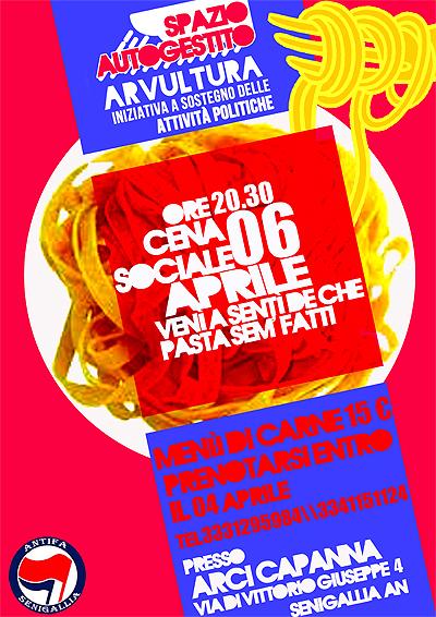 cena sociale arvultura 6 aprile