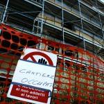 Cantiere occupato dagli operai a Senigallia