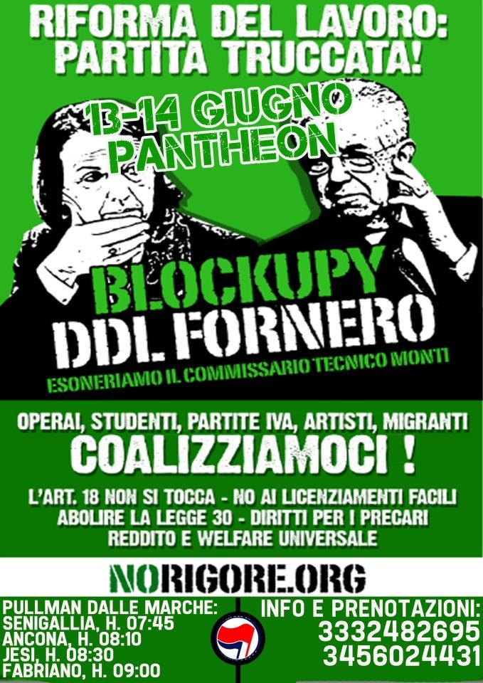 blockupy ddl fornero partenza da senigallia